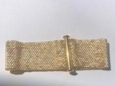 Peyote Stitch: Gold Band Bracelet